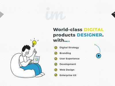 Personal info design illustration psd design landing page