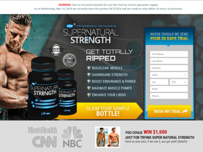 Landing Page Desing for Gym Product