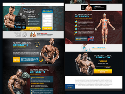 Landing Page Design for Muscle Product
