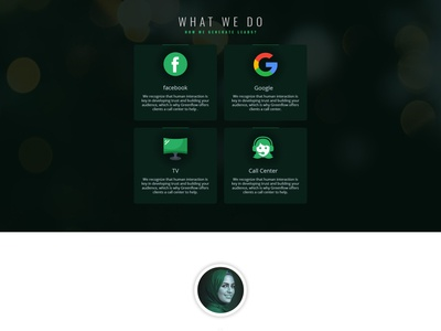 Section for Greenflow media landing page