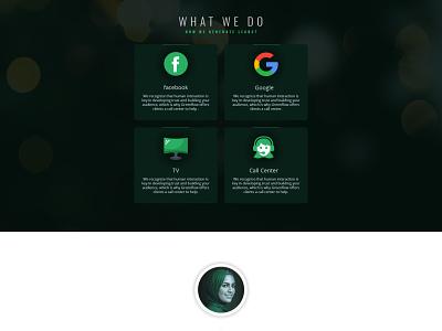 Section for Greenflow media landing page agency web design logo psd design ui design landing page