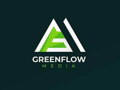 Greenflow Media Logo illustration branding logo design