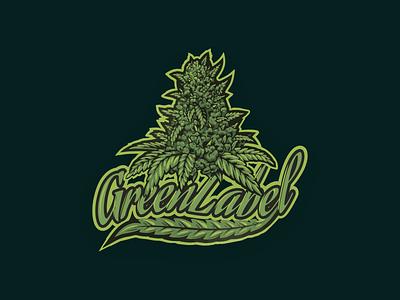 logo greenlabel brand branding logo design illustration