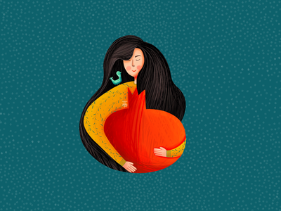 Yalda bird yalda yaldanight pomegranate longhair girl