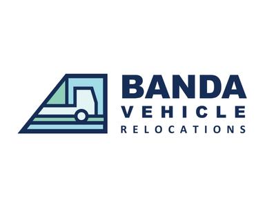 BANDA Vehicle Relocations Logo graphic design branding drawing design vector logo illustration