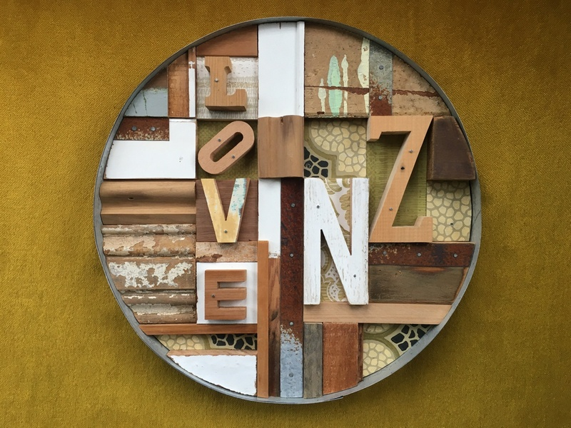 Love NZ - 2 cracked paint timber moulding architrave new zealand art rimu white cedar pine kauri rusted galvanised sheet vintage wallpaper linoleum contemporary art
