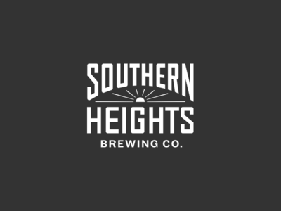 Southern Heights Brewing Logo industrial lettering sun logo beer