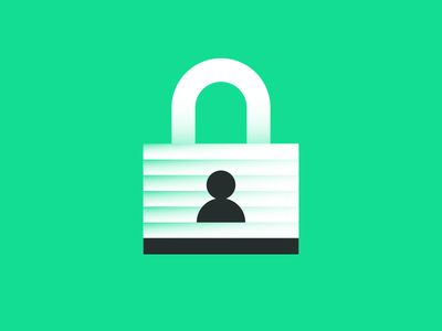 On Lock keyhole person lock illustration security identity