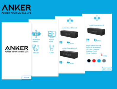 anker mobile application concept