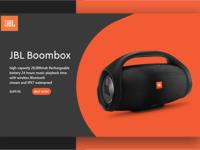 Jbl boombox web design ui ux concept