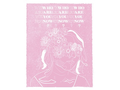 Who Are You Now poster vector poppunk typography handlettering music design illustration