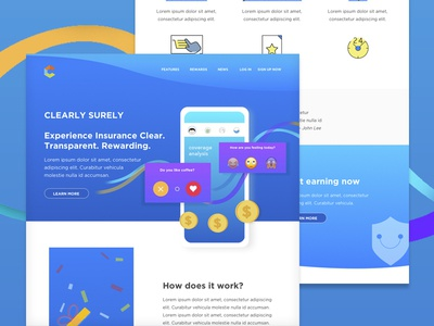 Homepage Web Design for Insurance