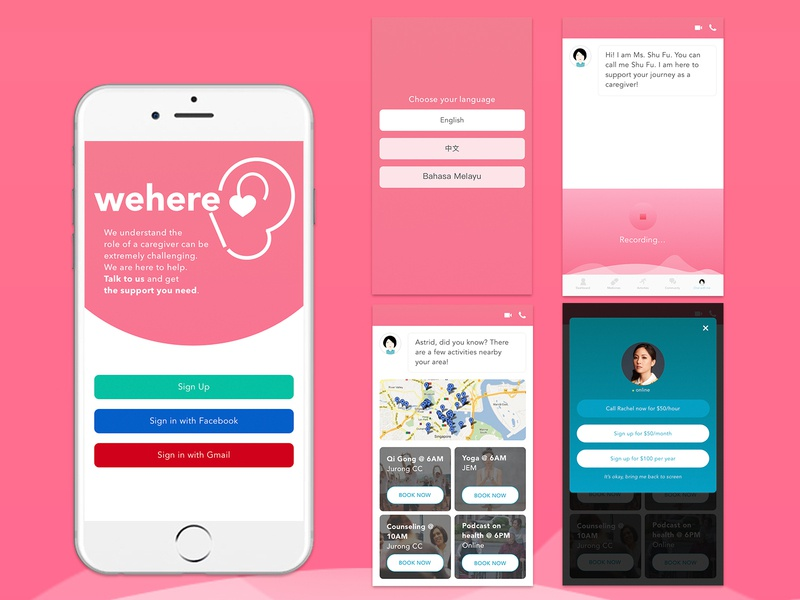 Chatbot App / Counselling App uidesign chatbots app design ux ui design healthcare chatbot counseling chatbot app