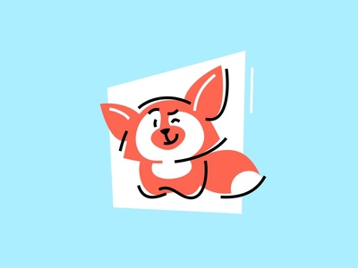 zilore mascot animal character funny flat cartoon cute fox character design mascot animal vector illustration fourhands