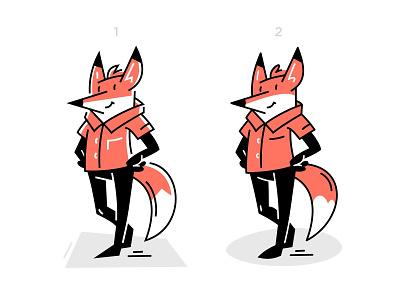 zilore mascot drawing line work animal character funny flat cartoon fox character design mascot animal vector fourhands illustration