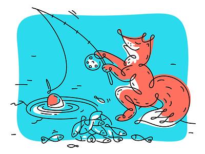 Zilore illustrations drawing character design funny line work animal character behance mascot stroke line art lines fish fox branding vector illustration fourhands
