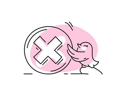 app illustrations system error placeholder error app bird icons vector fourhands illustration