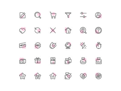 SB Icon System ui design icon pack user interface line icons icon set icon system marketing icons icon designer brand icons app icons iconography web app icon ui line icons vector fourhands illustration