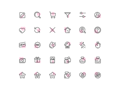 SB Icon System beauty ui design icon pack user interface icon set icon system marketing icons icon designer brand icons app icons iconography web app icon ui line icons vector fourhands illustration