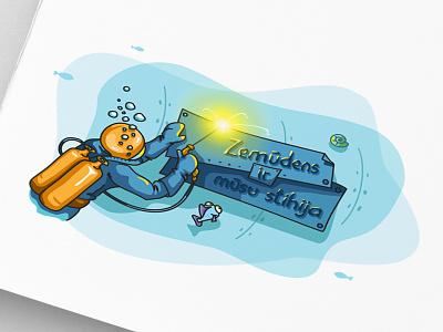 Meg Akva fourhands illustration