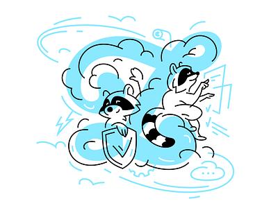 Zilore 🦝 animal raccoon illustrator character design character illustration character vector illustration fourhands