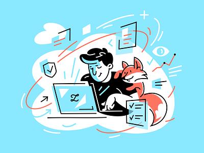 Zilore 🦊 fox character design character illustrator animal vector fourhands illustration