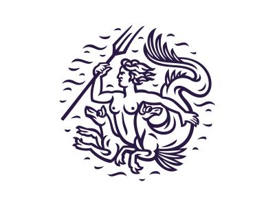 Scylla watch water mythology trident marine dogs female tits mythical tail scylla illustration