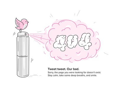 page 404 not found bird perfume cloud line missing web scentbird illustration error 404