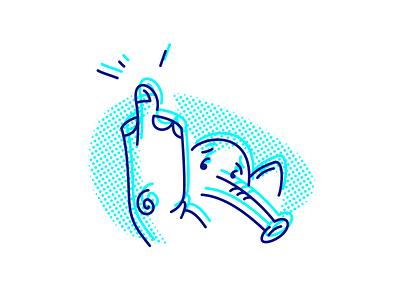 elephant stroke line fuck off elephant fuck fourhands vector illustration