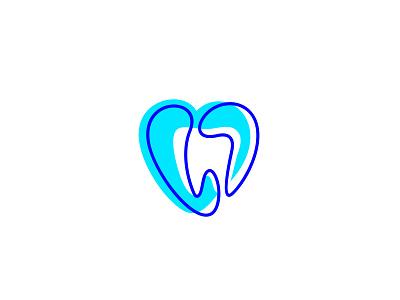 Dental Clinic heart health teeth medicine dental logotype tooth clinic stomatology fourhands branding logo mark