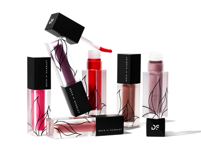 Packaging Design deckofscarlet make-up lipstick package beauty graphic design packaging branding fourhands cosmetics