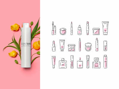 cosmetic icons set scentbird pictogram infographics line icons cosmetic cosmetic icons linestyle stroke outline icon outline makeup identity icondesign beauty fourhands icon set icons branding illustration iconography