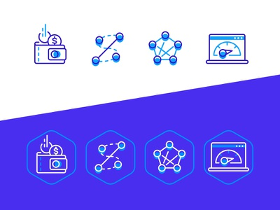Network icons pictogram money icon vector illustration network ui icons fourhands
