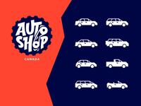 car body type icons