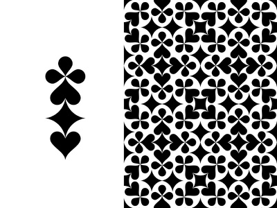 ♣♠♦♥ card game playing cards symbols suits suit poker deck playing card badge branding logo fourhands graphic pattern icons vector mark
