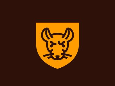 Betrayer mouse heraldry icon board game badge branding animal crest line traitor betrayer symbol mark fourhands logo