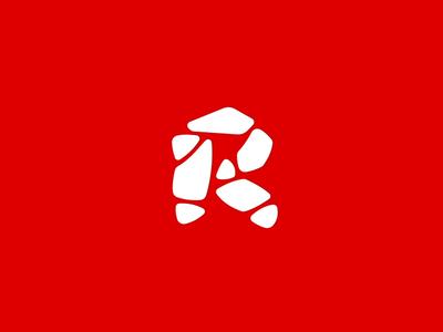 Red Stone animated logo animation red logotype stone symbol sign identity vector mark logo fourhands