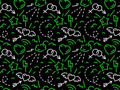 pattern seamless pattern branding scentbird line design vector fourhands illustration