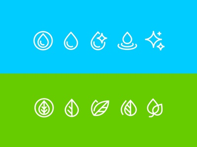 clean+vegan icons cosmetic cosmetology pictogram drop leaf outline iconography icon designer icon design stroked stroke vegan clean line icons vector fourhands illustration