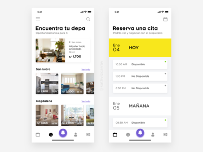 App Design to rent and search apartments