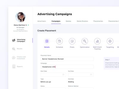 Dashboard for Advertising in Digital Media