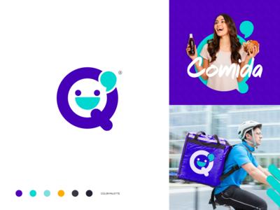 Q' Delivery app branding