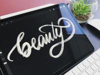 Ipad Pro Chalk Lettering