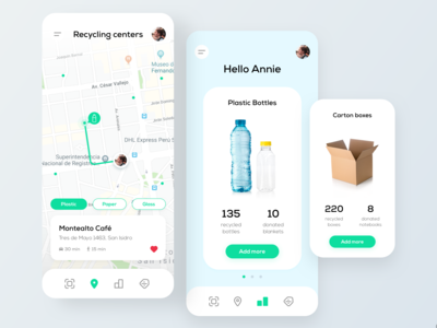 Recycling and Discounts App Concept