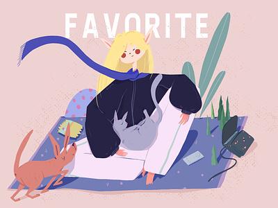 ABOUT   ME design illustration