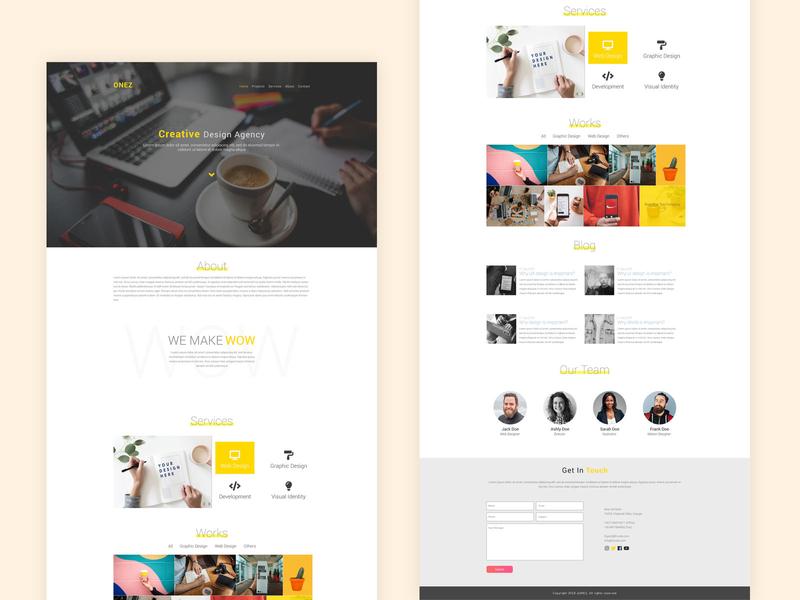 ONEZ - Free Minimal Agency Website