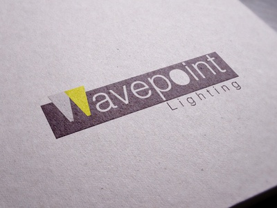 Wavepoint logo typo graphy light logo design