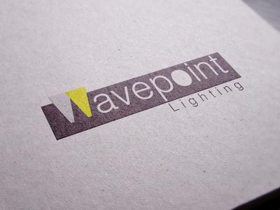 Wavepoint logo typo graphy light logo design