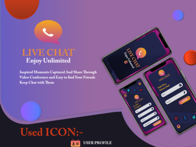 Live Chat Apps UI website sign up illustration ux app branding ui web ui kit app design