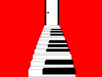 Piano Staircase Illustration